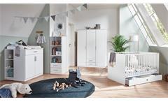 Babyzimmer KIEL Kinderzimmer modern weiß 3-teiliges Set