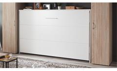 Klappbett mit Überbau Juist MRK weiß Eiche Jugendzimmer Set Schrankbett 120x200