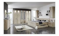 Schlafzimmerset Valencia Schlafzimmer Bett Schrank Nako in Eiche sägerau
