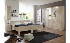 Schlafzimmerset 3 Meran Schlafzimmer Bett Schrank Nako Eiche sägerau