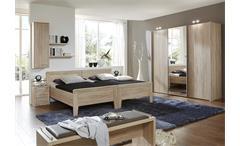 Schlafzimmerset 4 Meran Bett Schrank Nako Eiche sägerau  havanna