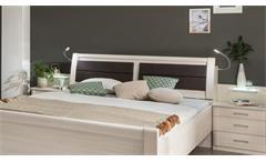 Bett Luxor Bettgestell Doppelbett Schlafzimmer Polar Lärche mit Kopfteil 180x200