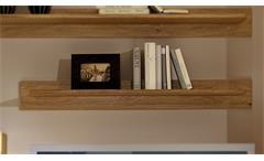 Wandboard Wandregal Bücherleiste Bilderleiste Pur Wildeiche teilmassiv 112 cm