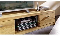 Wohnkombination Wohnzimmer Set Pur 2-tlg TV-Board Wandboard Wildeiche teilmassiv