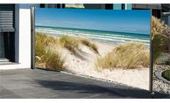 Seitenmarkise Fotodruck Strand Düne Meer Wind- Sichtschutz rechts 160x300 cm