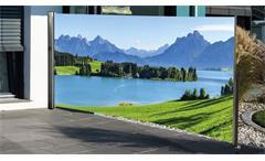 Seitenmarkise mit Fotodruck Berge Schutz vor Wind Sichtschutz rechts 160x300 cm