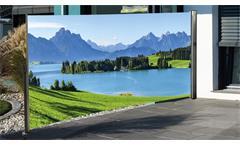 Seitenmarkise mit Fotodruck Berge Schutz vor Wind Sichtschutz links 160x300 cm