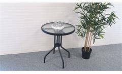 Bistroset 3-teilig Glastisch mit zwei Kunstrattan Stühlen Balkonset Garten