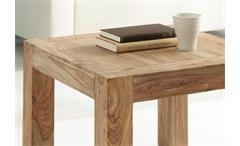 Couchtisch Holztisch Beistelltisch Yoga Sheesham massiv natur 60x60 Wolf Möbel