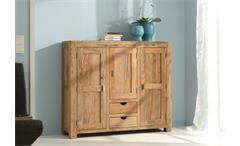Highboard Yoga Sheesham Massivholz Sideboard Schrank Landhausstil von Wolf Möbel