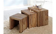 Beistelltisch Yoga Wolf Möbel Sheesham Massivholz