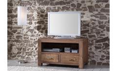 TV-Board GURU Akazie massiv stone 100 cm Wolf Möbel