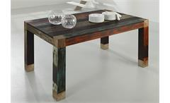 Tischgruppe Sitzgruppe Essgruppe Goa Massivholz Mango Used Look bunt Wolf Möbel