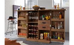 Bar 6909 Container aus amssivem Sheesham natur von Wolf Möbel