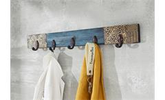 Hakenleiste Wandgarderobe Garderobenleiste Goa 5 Haken Mango massiv Wolf Möbel