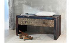 Schuhbank Sitzbank Flurbank Goa Konsole Massivholz Mango Vintage Wolf Möbel