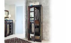Garderobenschrank Goa von Wolf Möbel mit Spiegel in Massivholz Mango Vintage Used Look