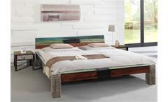 Bett GOA 180x200 von Wolf Möbel in Massivholz Mango