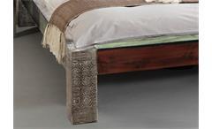 Bettgestell Holzbett Doppelbett Goa Bett Massivholz Mango 180x200 Wolf Möbel