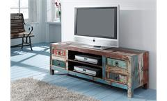 Lowboard Himalaya Altholz 3737 TV-Board old recycled wood mehrfarbig Wolf Möbel