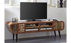 Lowboard Retro Himalaya 3761 TV Board old recycled wood mehrfarbig Wolf Möbel