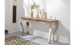 Konsole Bombay Tisch Schminktisch Massivholz Sheesham natur von Wolf Möbel