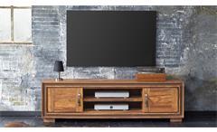 TV-Board Shan 6302 Shina aus Sheesham Massivholz Lowboard von Wolf Möbel