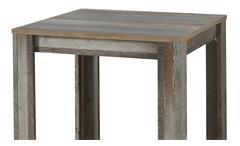 Tresentisch Bonanza Bartisch Tisch Bistrotisch Esstisch in Driftwood 80x80 cm