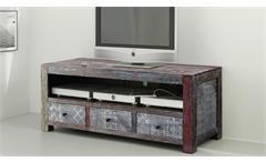 TV-Board Longboard Goa Red 3507-HI Lowboard Massivholz von Wolf Möbel mehrfarbig