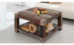 Couchtisch Goa Red 80x80 cm 3525-HI Beistelltisch Massivholz Mango Wolf Möbel