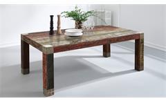 Esstisch Big 180x100 3516-HI Goa Red in Massivholz Mango mehrfarbiger Tisch
