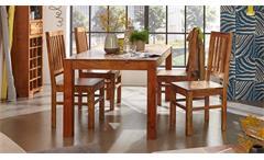 Esstischgruppe Vision Akazie Massivholz Esstisch und 4 Stühle von Wolf Möbel