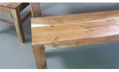 Esstischgruppe Vision Akazie Massivholz Tisch 4 Stühle und Bank von Wolf Möbel