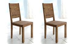 Stuhl Yoga 2er Set Esszimmerstuhl aus massivem Sheesham von Wolf Möbel