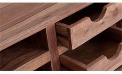 Sekretär Yoga 6474 Schreibtisch Sheesham Massivholz Natur Tisch von Wolf Möbel
