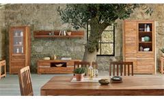Wohnwand Boston Anbauwand Wohnzimmermöbel aus Sheesham massiv von Wolf Möbel