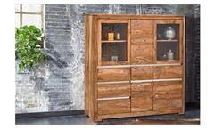 Highboard BOSTON 7611 aus Sheesham Massivholz teak von Wolf Möbel