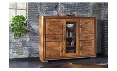 Highboard Shan 6306 Buffet Schrank Sheesham Massivholz shina braun Wolf Möbel