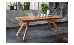 Esstisch Shan 6322 Tisch Sheesham Massivholz shina braun 180x90 cm Wolf Möbel