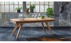 Esstisch Shan 6326 Tisch Sheesham Massivholz shina braun 200x100 cm Wolf Möbel
