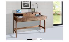 Schreibtisch Yoga 6470 Bürotisch Tisch Sheesham Massivholz natur von Wolf Möbel