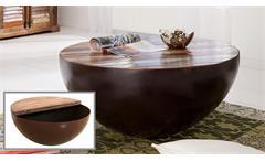 Couchtisch 90x90 Holztisch Himalaya Altholz recycelt rund Wohnzimmer Wolf Möbel