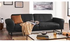 Sofa Montanaa 2-Sitzer Leder schwarz inkl. Nosagfederung 212 cm Willi Schillig