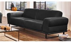 Garnitur Montanaa 2er Sofa in Leder schwarz inkl. Nosagfederung Willi Schillig
