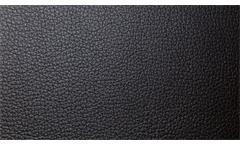 Ecksofa Enjoy Relax Eckgarnitur Bezug in Leder schwarz Füße Metall Nosagfederung