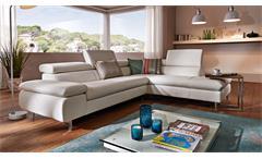Ecksofa W.Schillig 20978 Polstersofa Wohnlandschaft Sofa echtes Leder in weiß