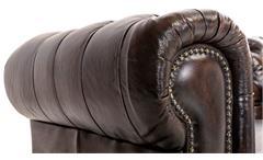 Chesterfield Garnitur 3-2-1 Leder Antik braun Luxus hochwertige Qualität