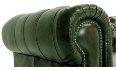 Chesterfield Garnitur 3-2-1 Leder Antik grün Luxus hochwertige Qualität