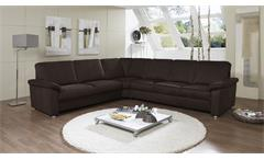 ecksofa triest sofa wohnlandschaft in nougat braun 240x298. Black Bedroom Furniture Sets. Home Design Ideas