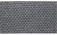 Wohnlandschaft Para U-Form Bezug in Stoff grau Füße Metall inkl. Nosagfederung